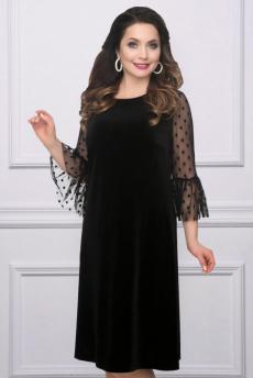 Черное бархатное платье CHARUTTI