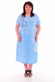 Голубое свободное платье Новое кимоно