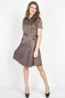 Светло-коричневое платье на пуговицах Bast